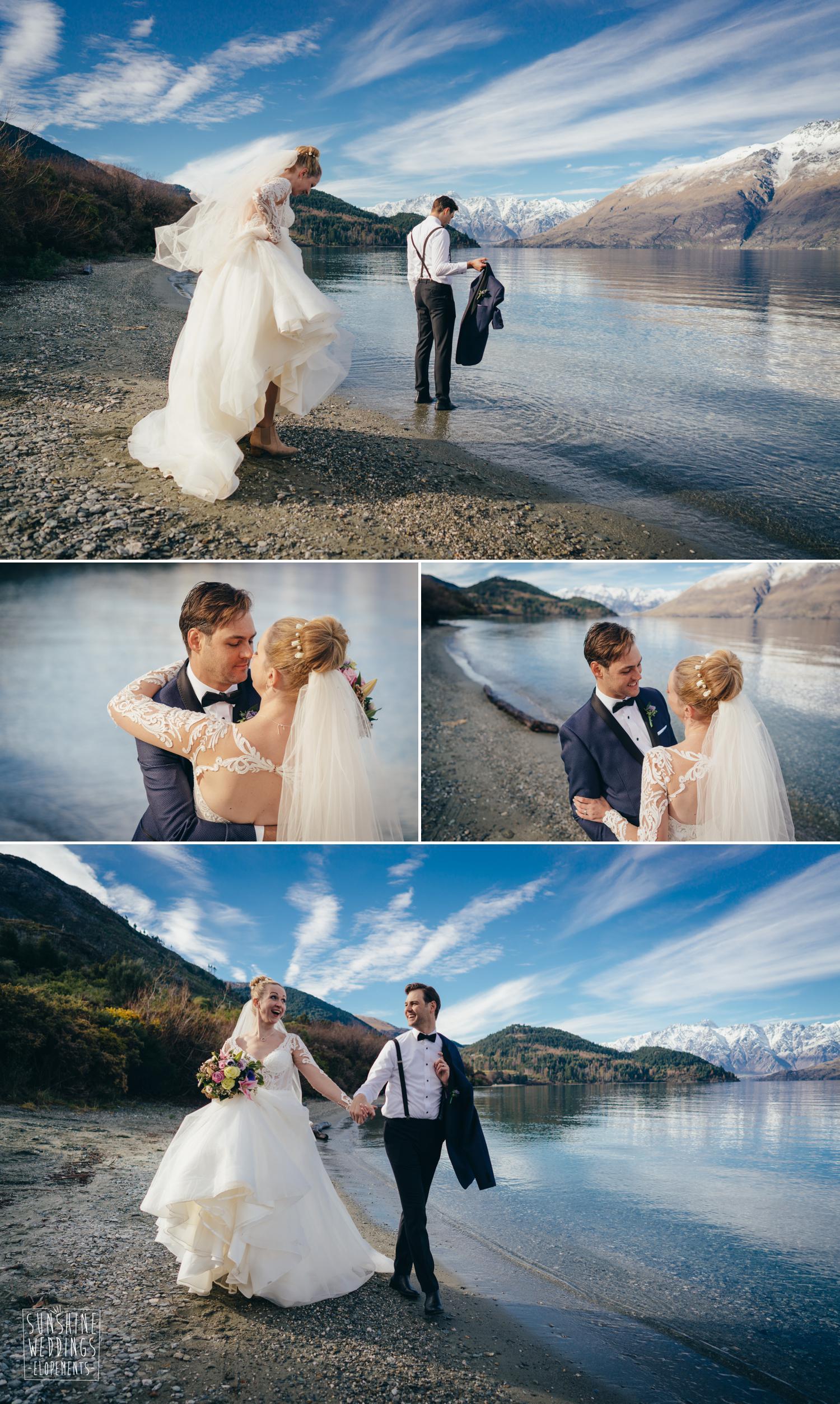 Queenstown lake elopement photographer