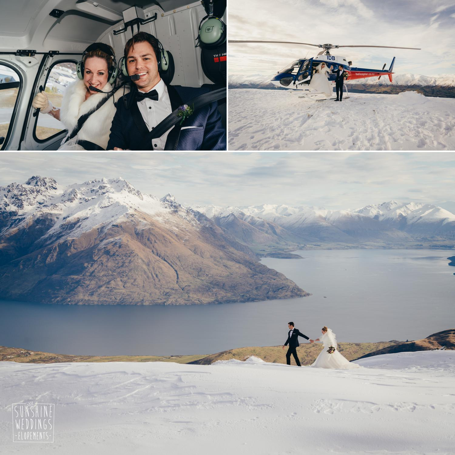 Heli wedding Queenstown