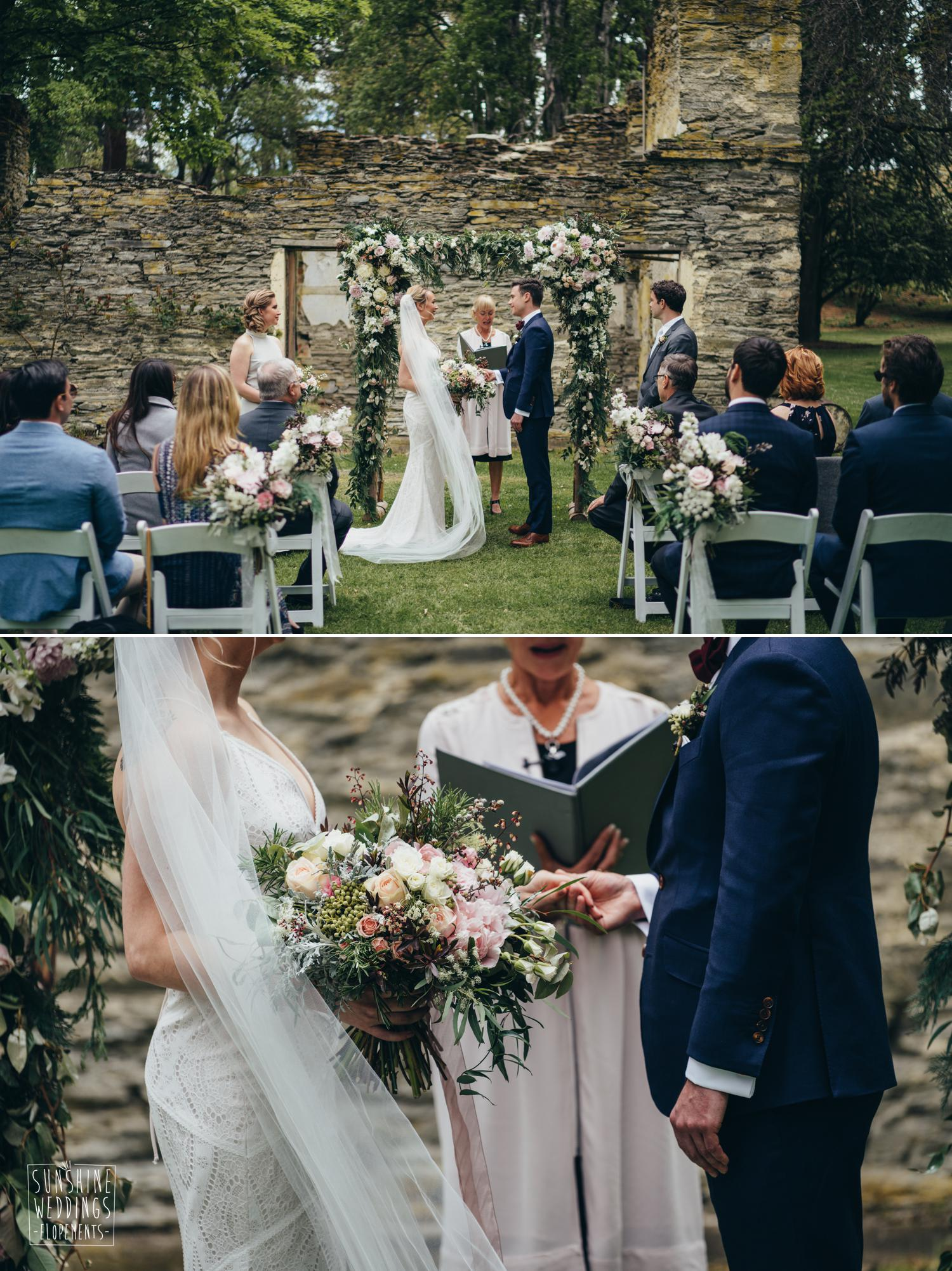 Wedding ceremony at Thurlby Domain Queenstown