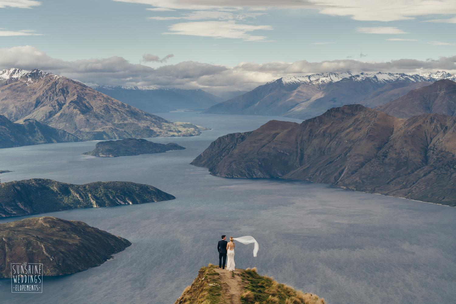 Coromandel Peak wedding, Lake Wanaka, spectacular wedding photography, mountain wedding locations, mount roy wedding