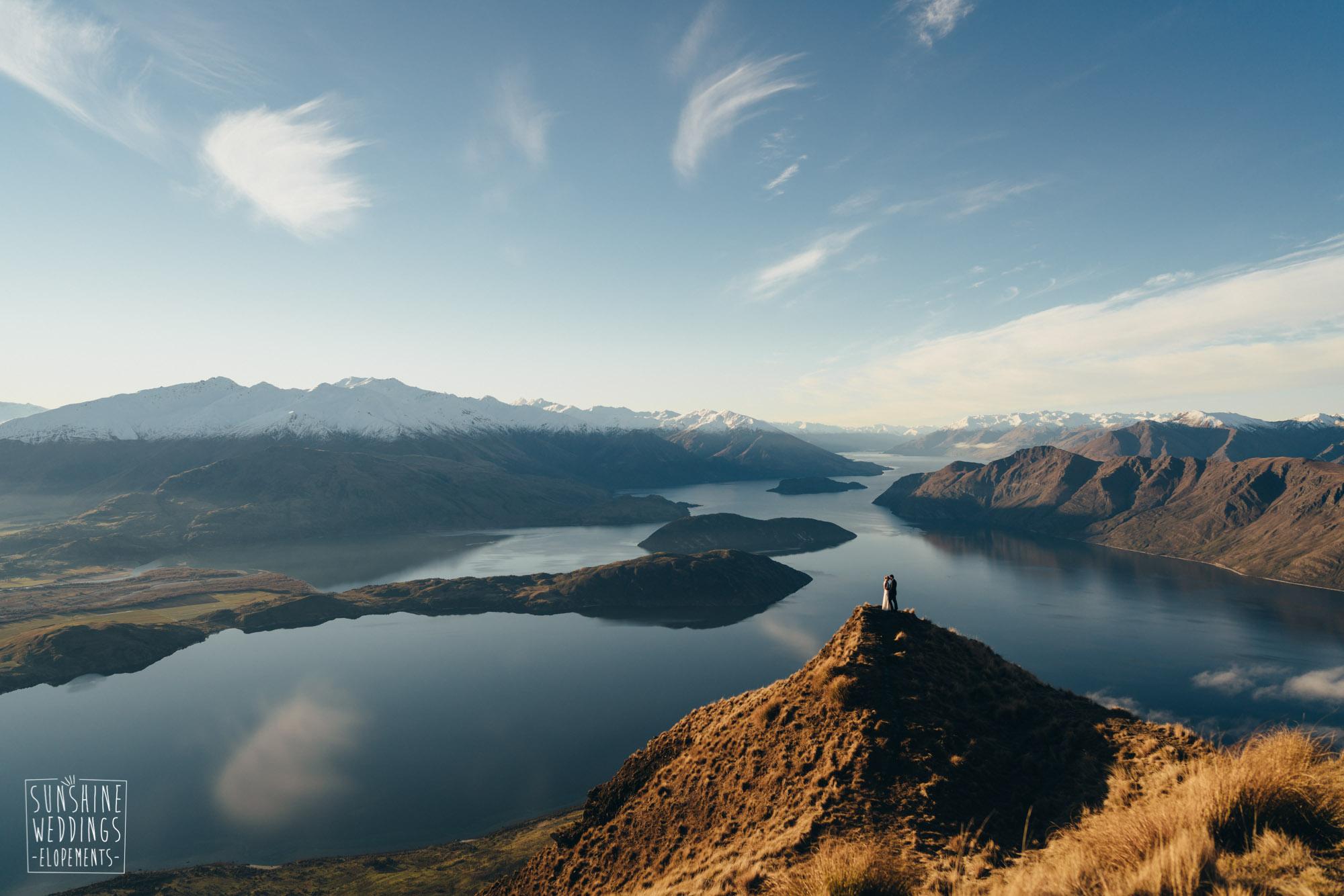 wedding Coromandel Peak, mounta roy views, spectacular NZ mountain wedding