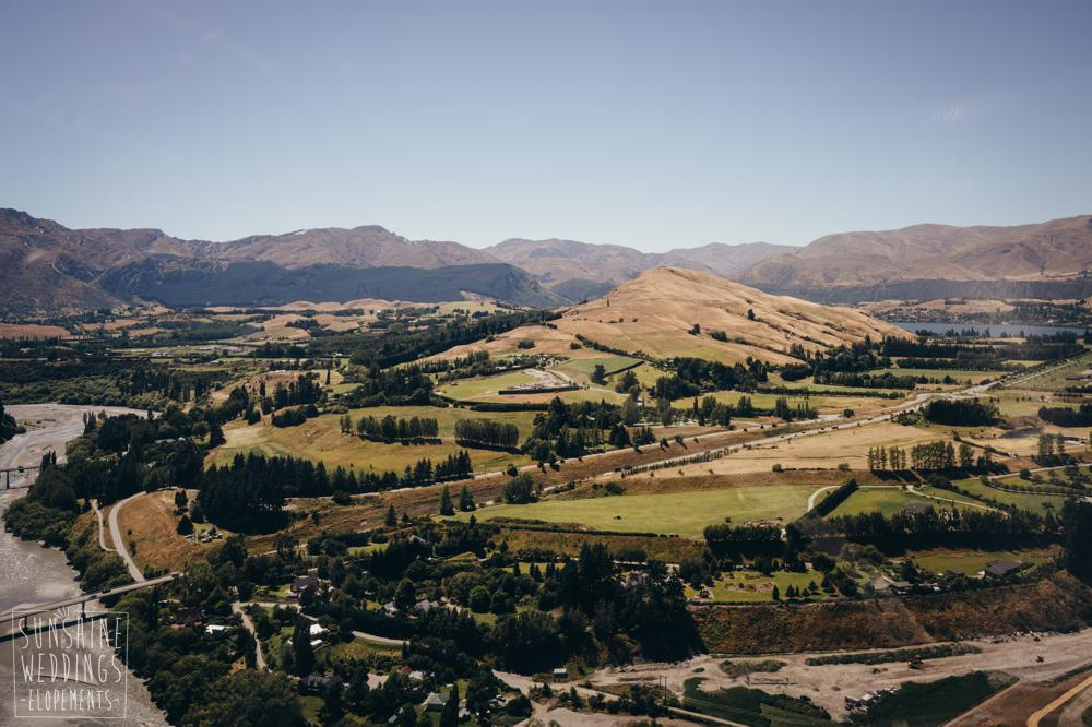 View from helicopter of Queenstown