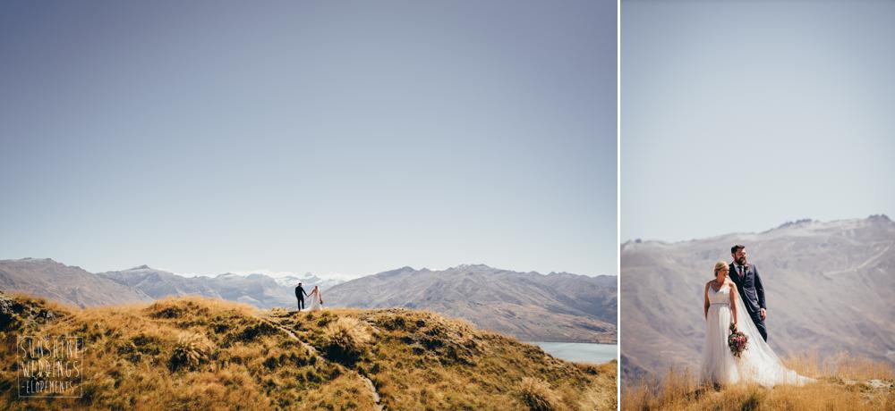 Wedding elopement on Coromandel Peak