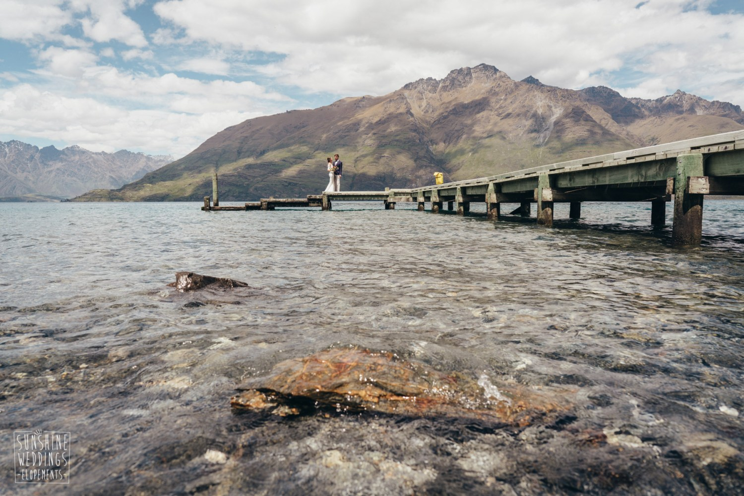 Lake Wakatipu lakeside wedding Queenstown