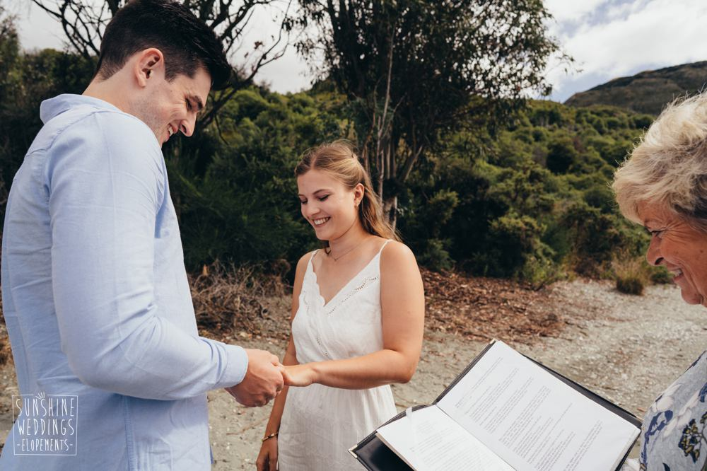 elopement wedding ceremony in NZ