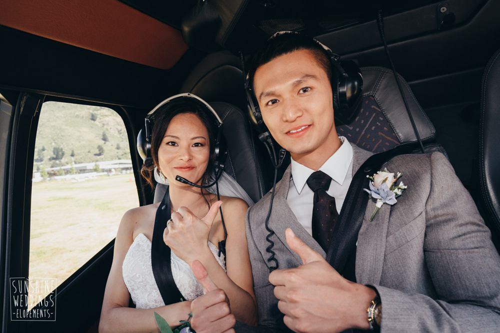 heli wedding Queenstown NZ