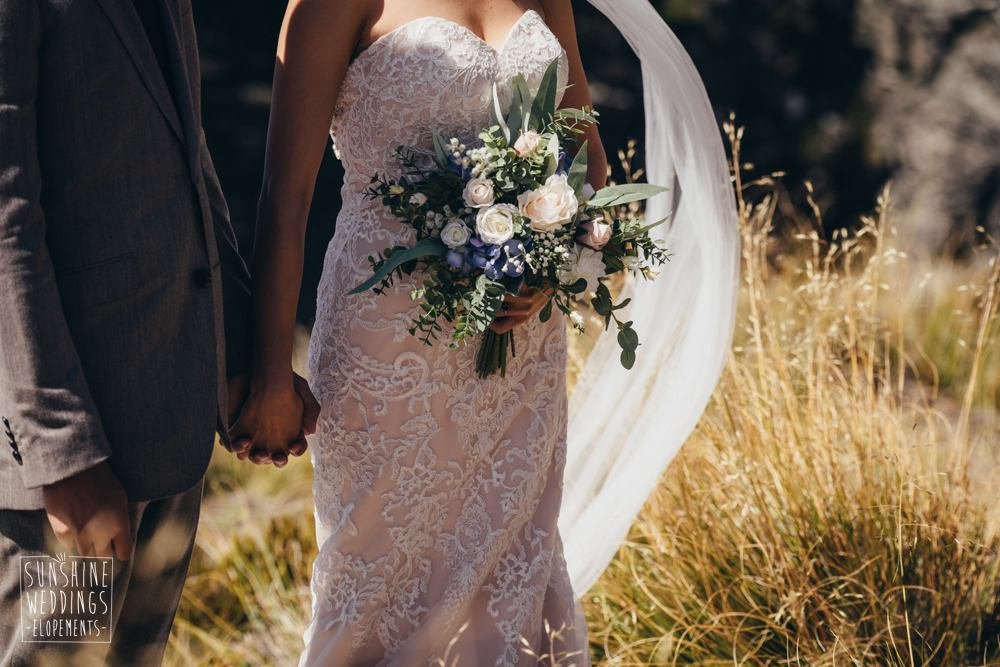 Ceil Peak wedding ceremony - photographer and planner for elopements
