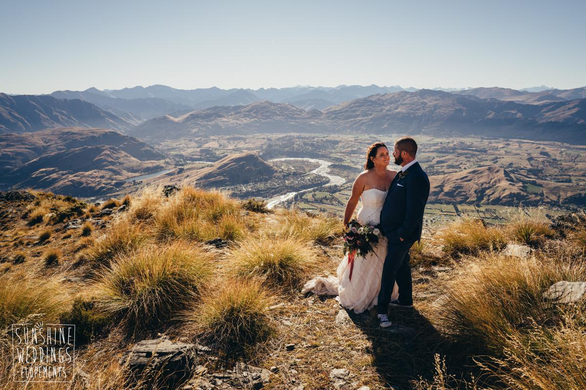 Wedding on Remarkables mountain