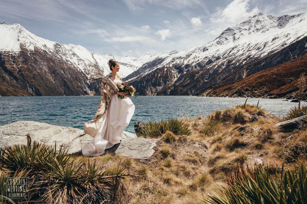 Spectacular New Zealanad mountain wedding photography