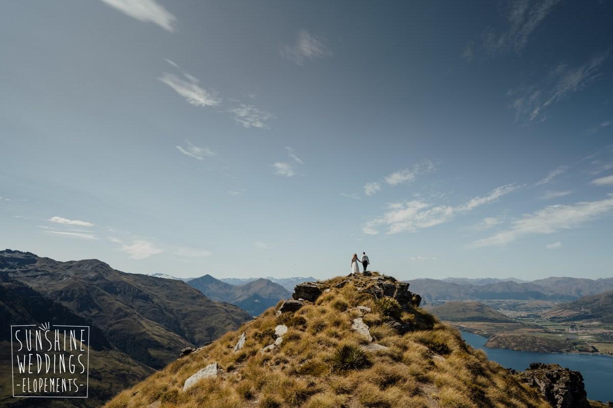 queenstown mountain elopement bayonet peaks