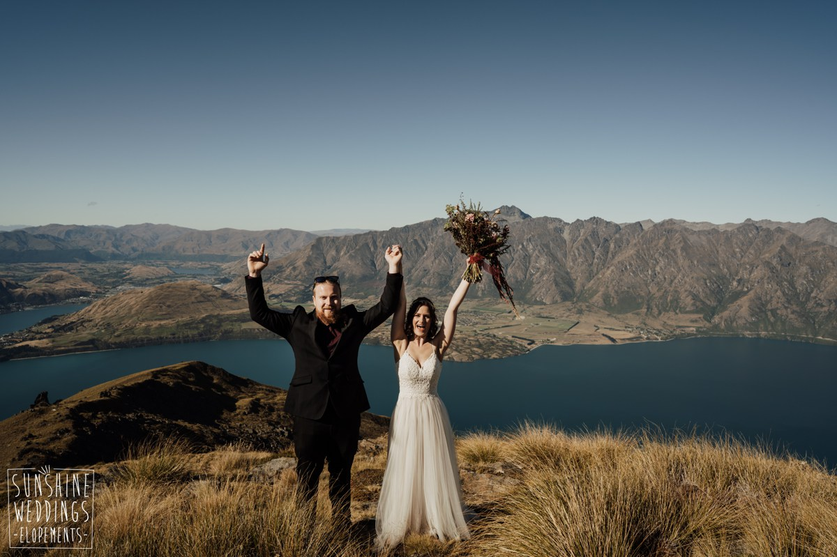 wedding on top of a mountain nz