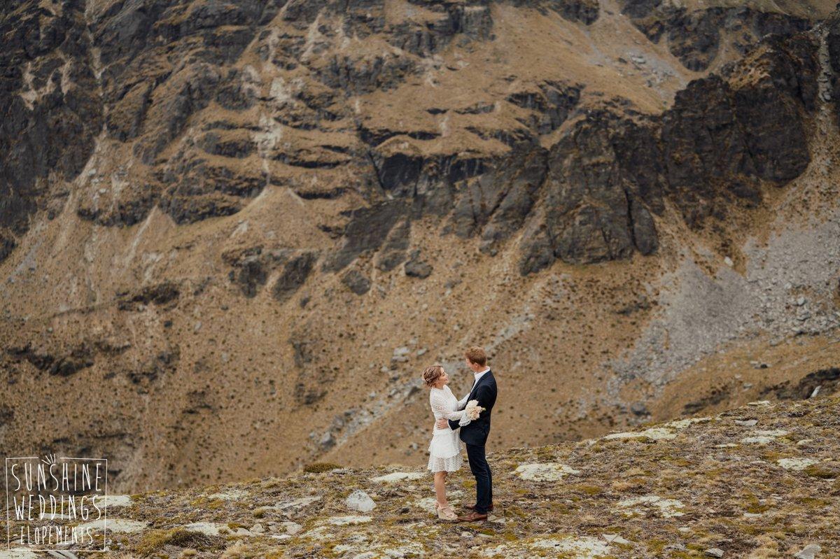 stunning mountain wedding new zealand