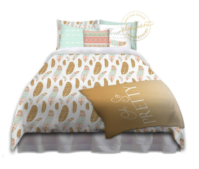 289_girls College Dorm Bedding