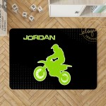 Motocross Gift Motocross Decor Personalized Rug Boy Bedroom Decor 406 Eloquent Innovations