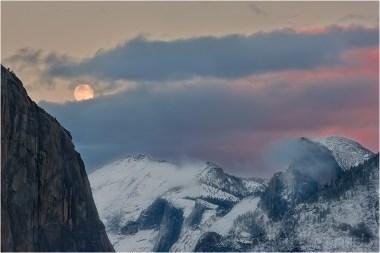 Winter Moon, Half Dome, Yosemite