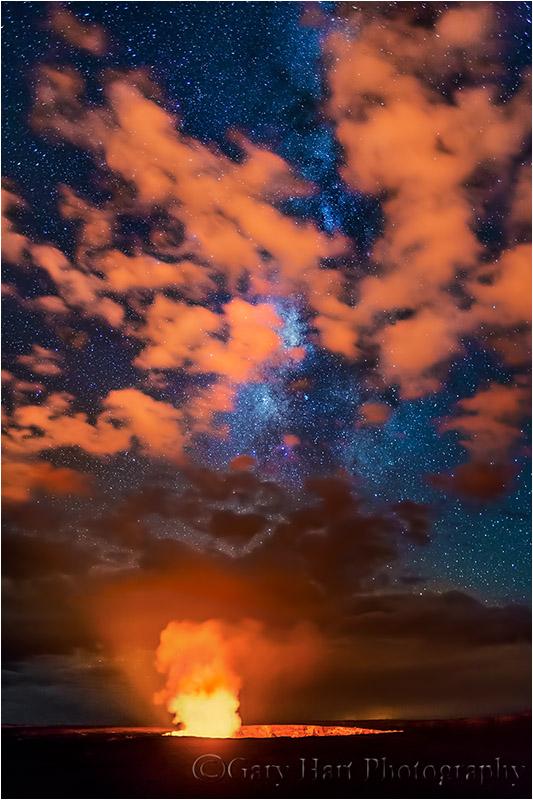 Fire on High, Kilauea and Milky Way, Hawaii