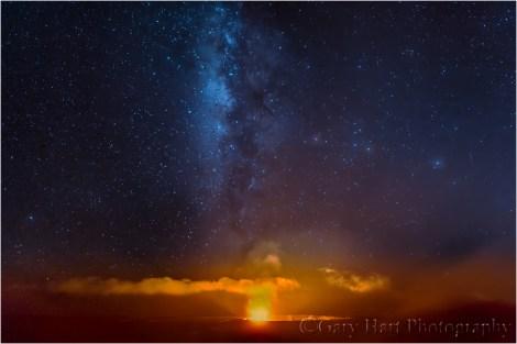 Gary Hart Photography: Heavenly Fire, Kilauea Caldera, Hawaii