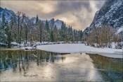 Winter Light, Swinging Bridge, Yosemite