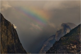 Gary Hart Photography, Half Dome and Rainbow, Yosemite