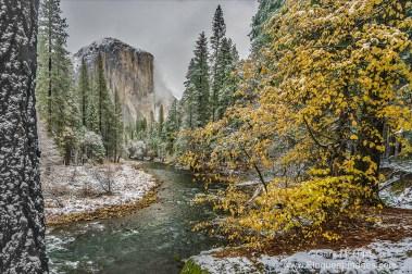 Gary Hart Photography: Autumn Snow, El Capitan, Yosemite