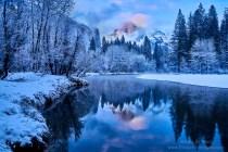 Gary Hart Photography: Winter Twilight Reflection, Half Dome, Yosemite