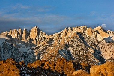 Gary Hart Photography: Sunrise Moonset, Mt. Whitney and the Alabama Hills, California