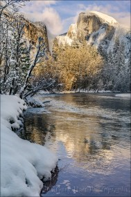 Gary Hart Photography: Frozen Reflection, Half Dome, Yosemite