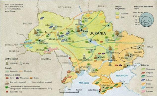 Mapa económico Ucrania