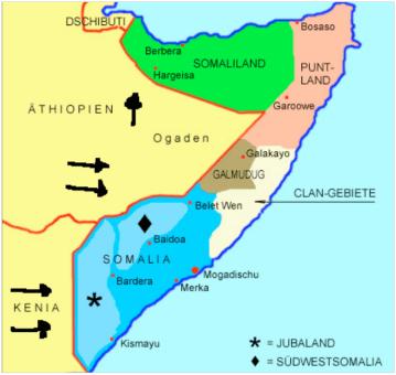 Estados somalíes durante antes de la Segunda Guerra Civil