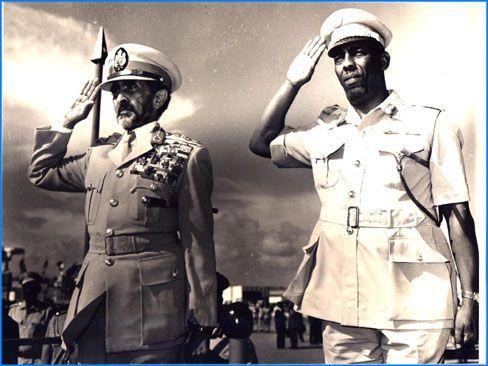 Siad Barre junto con el Emperador Haile Selassie de Etiopía