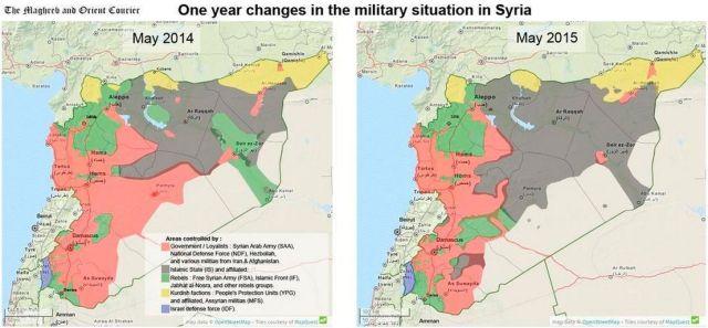 Siria Estado Islámico Mayo 2014 y 2015