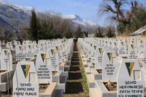 Cementerio del PKK en Qandil.