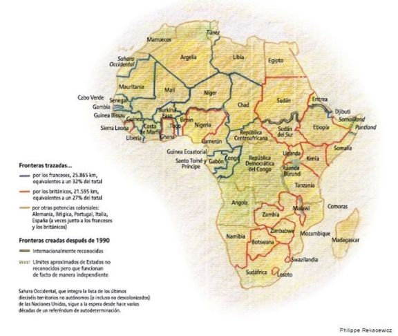 África - Historia - Fronteras en África