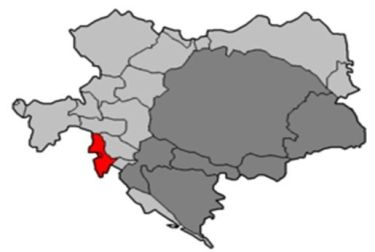 El litoral austriaco englobaba la zona de Carniola y de Istria