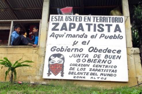 Zona de autogobierno zapatista en los Altos de Chiapas. Fuente: Josep Nadal