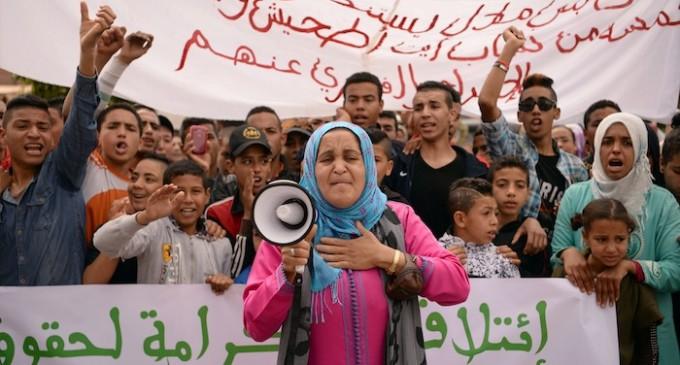 Manifestación contra la homosexualidad en Beni Melal. Fadel Senna para TelQuel