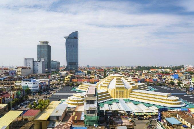 Panorámica de Phnom Pehn. Fuente: Banker In The Sun