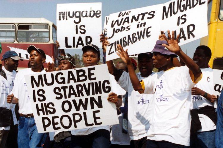 Las protestas contra Mugabe están ya relativamente extendidas en el país. Fuente: Furtherafrica