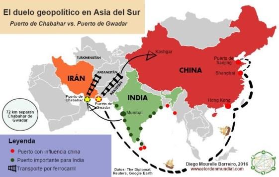 India y China se disputan la influencia en Asia del sur a través de grandes proyectos energéticos y rutas comerciales terrestres y marítimas.