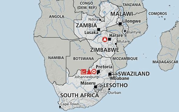 Zambia es unas ocho veces más grande que Malaui, aunque la composición de chewas-tumbukas en Malaui es cuatro veces mayor que en Zambia. Fuente: Swiss Agency for Development and Cooperation