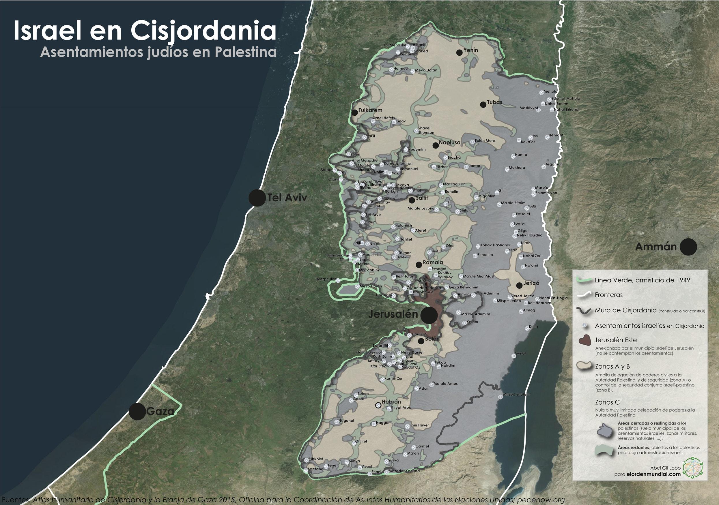 H Cisjoradania Israel Asentamientos Colonias Ocupación