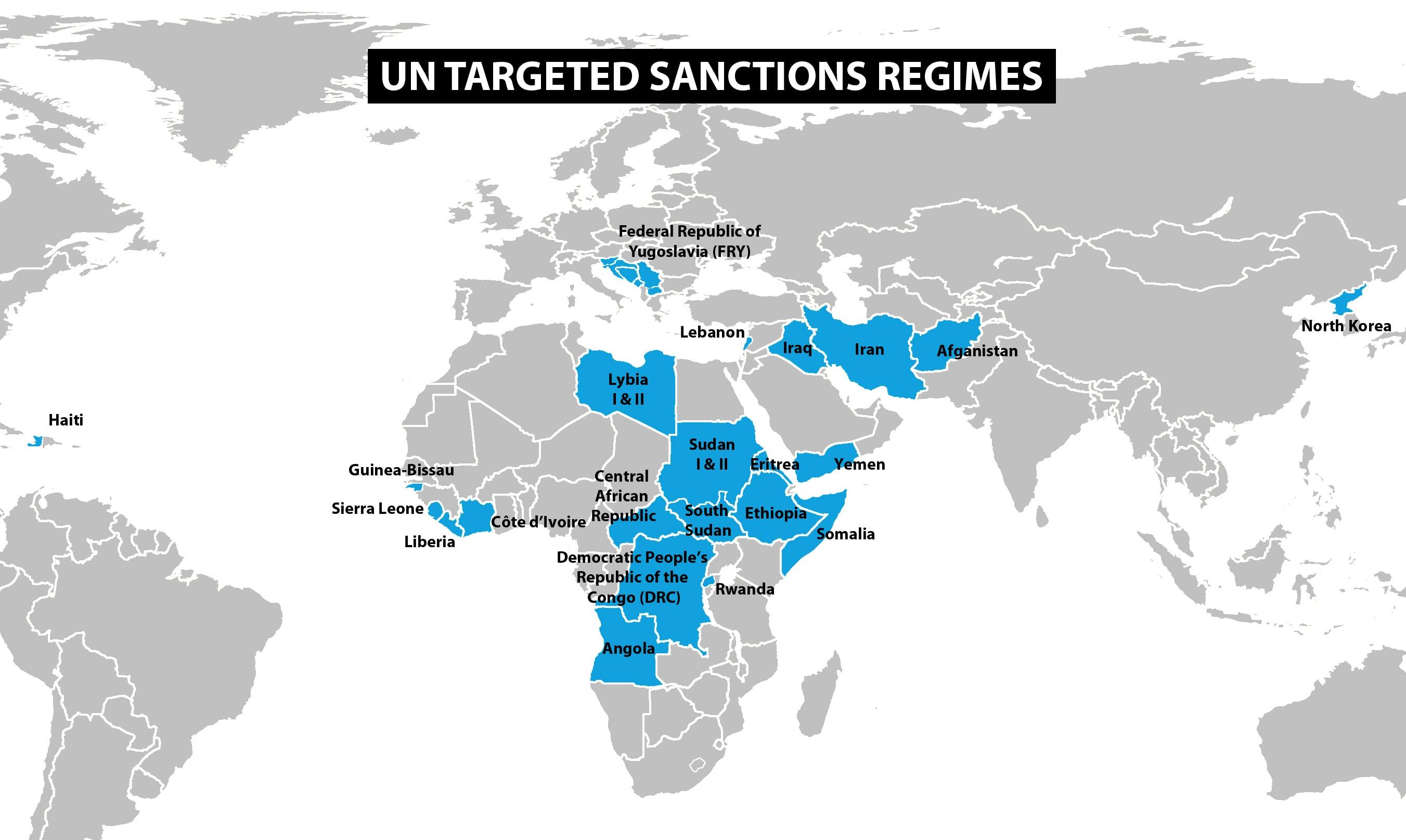 Mapa sanciones internacionales