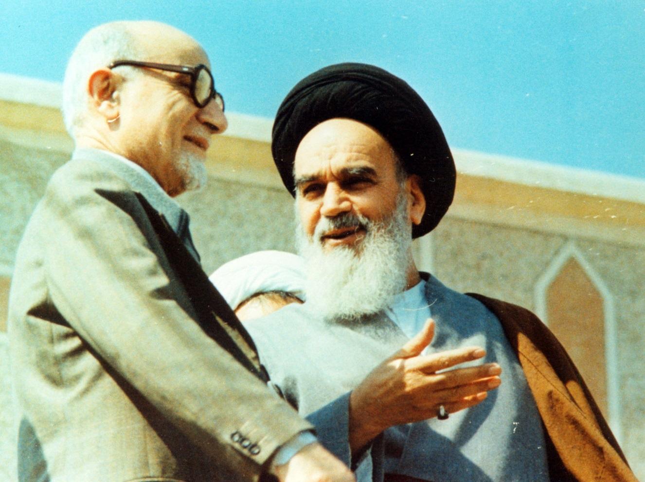 iran bazargan jomeini reunion WKI