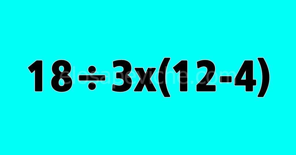 TEST: sai risolvere questo difficile problema di matematica?