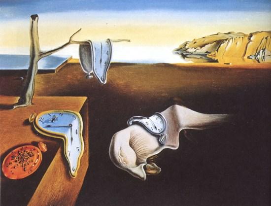 Cuadro Dalí, tiempo