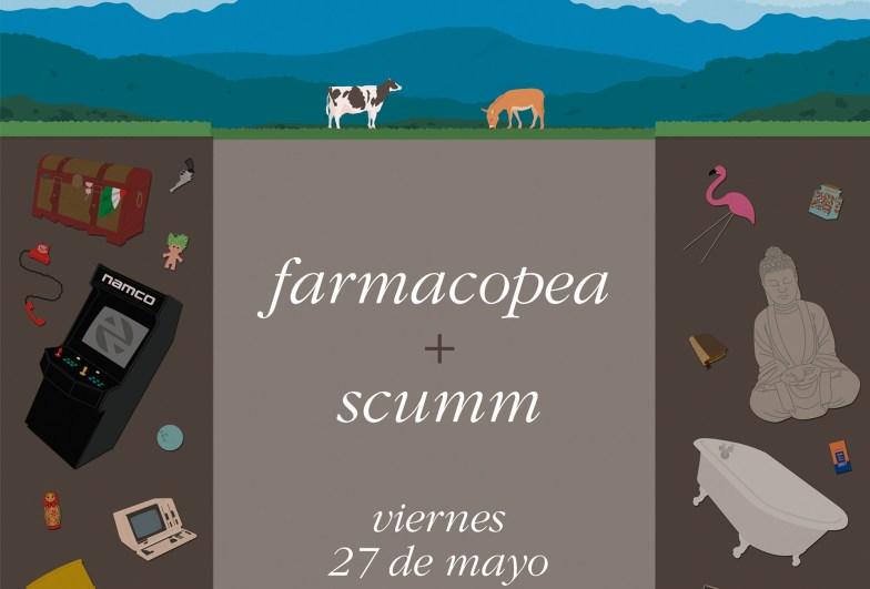 Scumm - Paracaídas fatales - detalle póster concierto 1