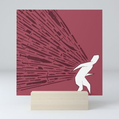 Mini art print - Miedo al fuego amigo
