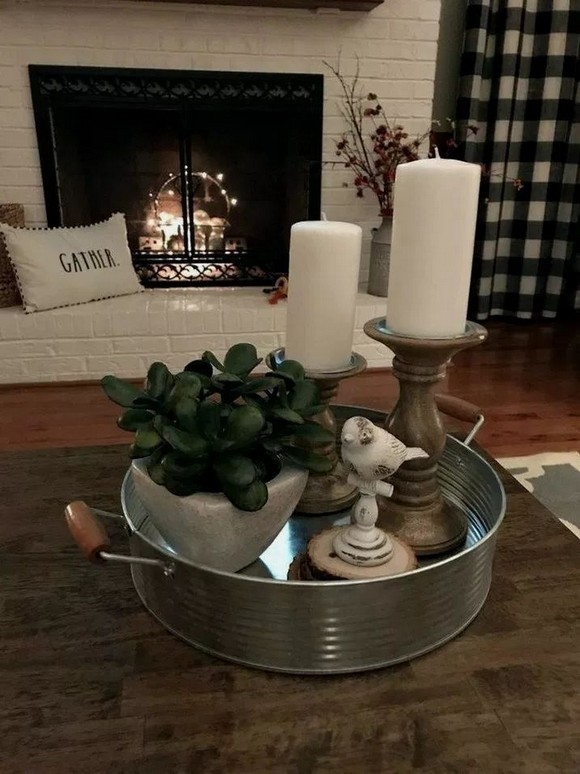 19 Beautiful Farmhouse Coffee Table Design For Living Room 07