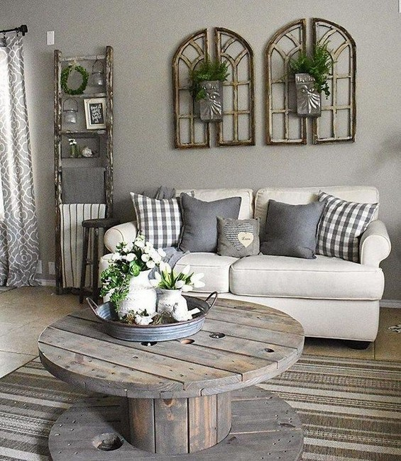 19 Beautiful Farmhouse Coffee Table Design For Living Room 12