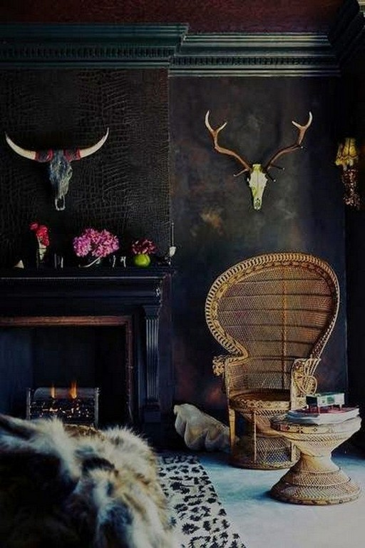 15 New Exotic Dark Boho Room Decor 24